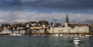 View over Lucerne from the Boat